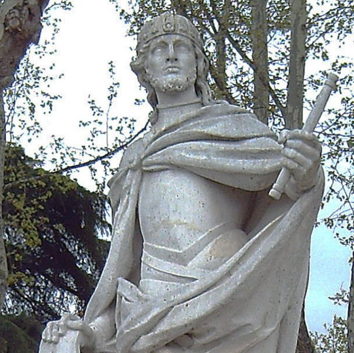 Statue of Luivigild in Madrid. Photograph: Luis Garcia