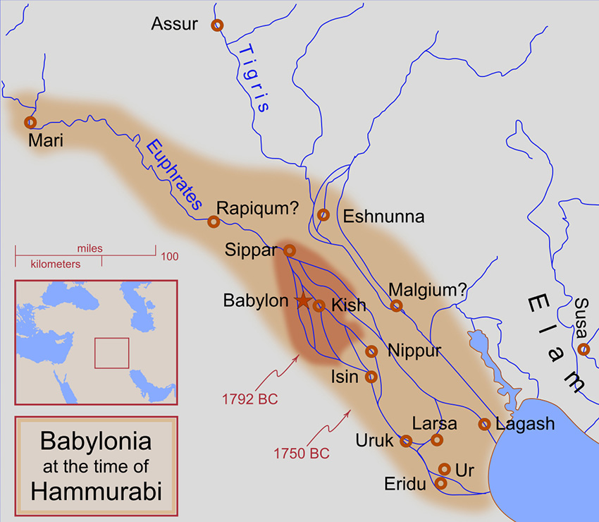 Map-of-Babylonia-during-the-reign-of-Hammurabi