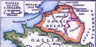Map of Gallia (Gaul)