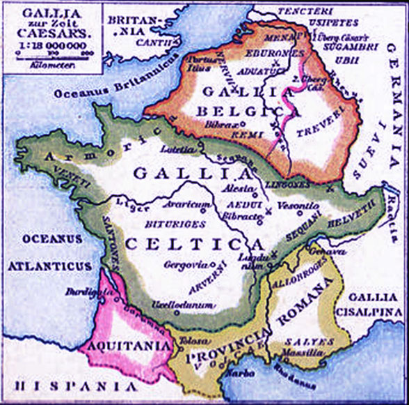 Map of Gaul territory