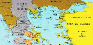 Peloponnesian League and Second Athens league around 377-355 BC