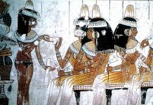 Detail of wedding ceremony Ancient Egypt