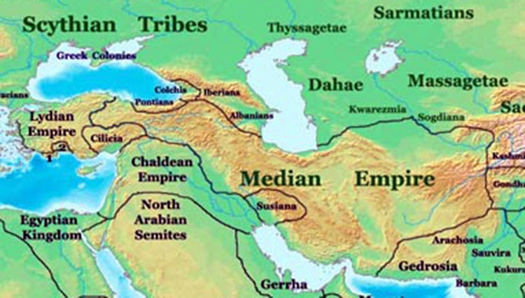 Median empire  around 600BC