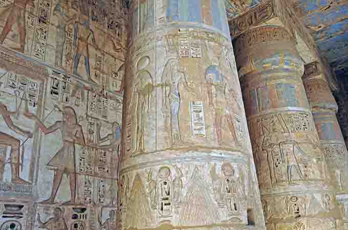Artwork at Medinet Habu