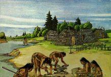 Mesolithic living scene