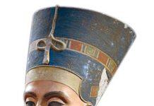 Nefertiti bust. Collection of Egyptian museum Berlin