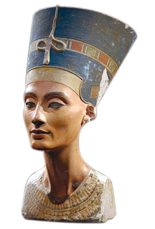 Nefertiti bust. Collection of Egyptian museum Berlin