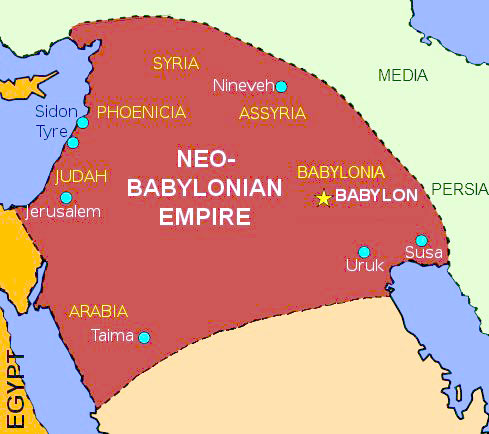 Map of Neo Babylonian empire