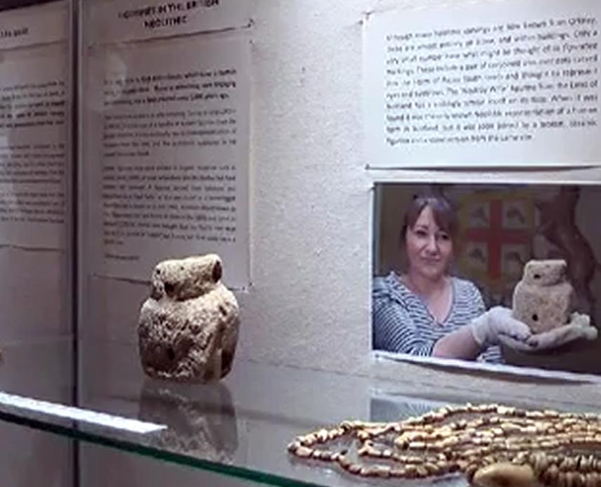 Neolithic whalebone figurine from Skara Brae.