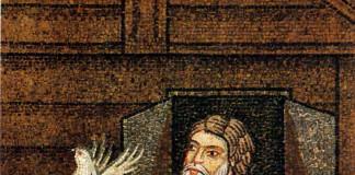 Noah sending the dove. Mosaic from the Saint Mark's Basilica in Venice (XII-XIII century).