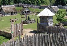 Replica of the Norman village.
