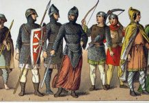 Interpretation of the Normans by painter Albert Kretsschmer (19 century)