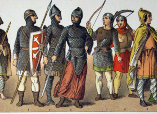 Interpretation of the Normans by painter Albert Kretsschmer (19 century)