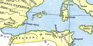 Map of Numidia and Mauretania