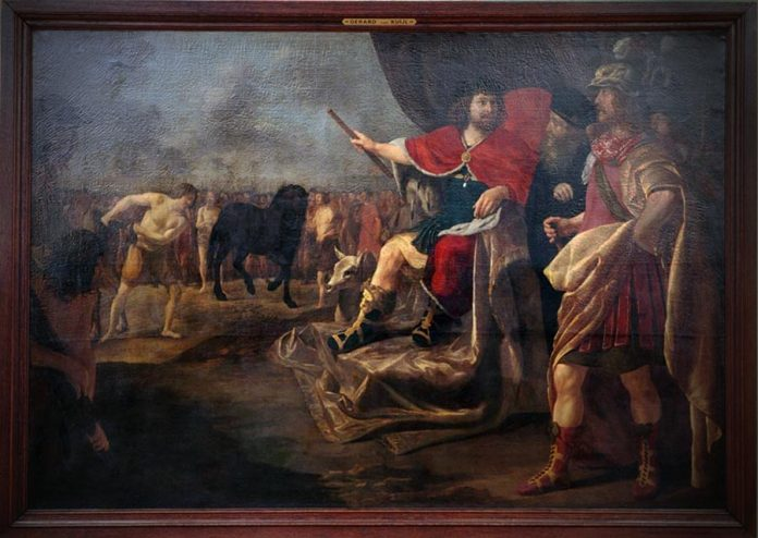Oil on canvas. Interpretation of Quintus Sertorius by artist Gerard van Kuijl XVIIcentury AD