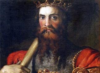 Portrait of Ostrogothic king Totila (541-552) by painter Francesco Salviati (XVI century)