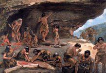 Paleolithic living scene