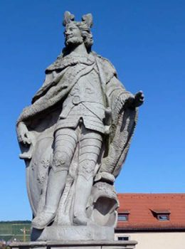 A statue of Pepin the Short in Wurzburg
