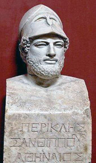 Portrait bust of Perikles.