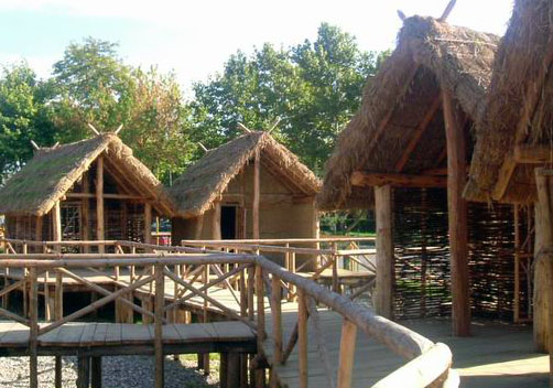 Pile dwellings reconstruction