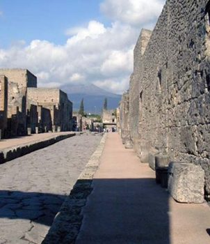The main street of Pompeii.