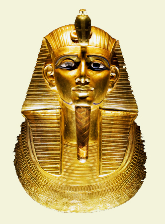 Gold death mask of Psusennes I discovered in 1940.