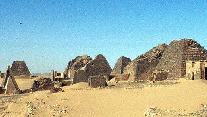 Pyramids in ancient city Meroe (today in Sudan territory)