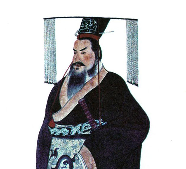 Portait of Qin Shi Huang (19 century AD)