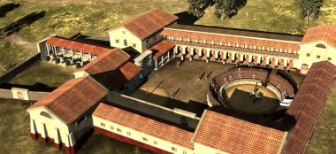 Reconstuction-model-gladiator-school-Carnuntum-by-Michael Klein