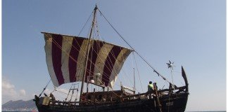 Replica of the Phoenician ship. Image source: www.pioneerexpeditions.com