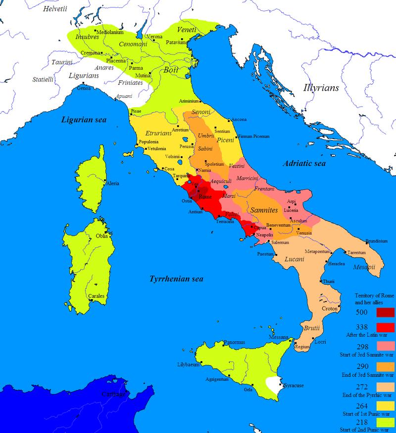 Roman expansion V - III century BC.