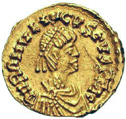 Coin of Romulus Augustus the last of the Western Roman Emperors