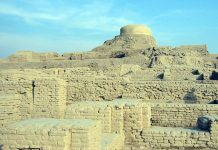 Ruins of Harrapan city Mohenjo-daro
