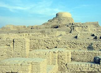 Ruins of Harrapan city Mohenjo-daro