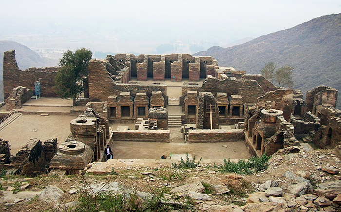 Ruins of the ancient-Buddhist monasteries in Mardan (Pakistan)