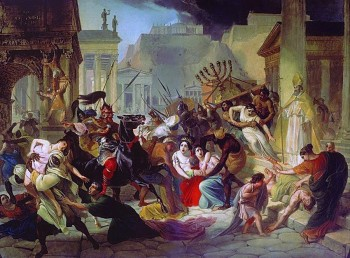 Paint showing scene from 455 AD when Vandals entered into Rome. Oil on canvas by Russian painter Karl Briullov (19 century). Source of image: http://www.art-catalog.ru/picture.php?id_picture=3761