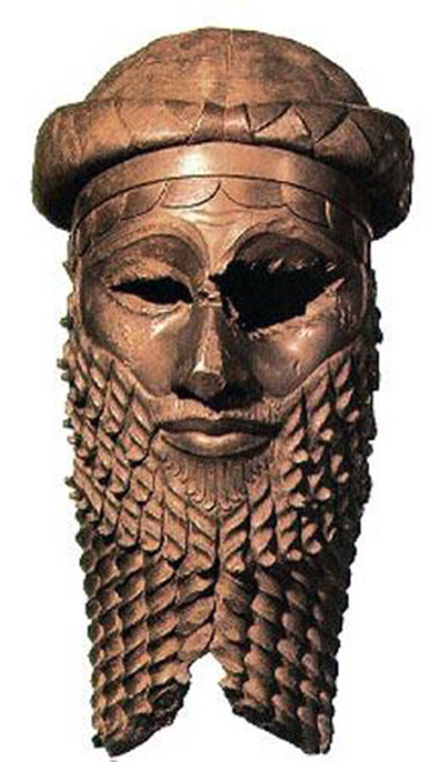 Sargon bronze mask