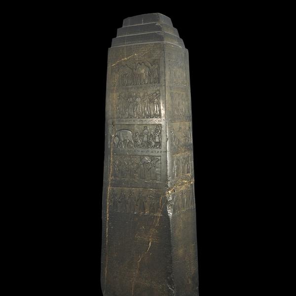 The Black Obelisk of Shalmaneser III. Source: www.britishmuseum.org/explore/highlights/highlight_objects/me/t/black_obelisk_of_shalmaneser.aspx