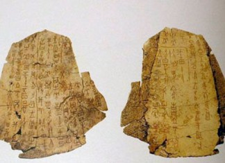 Example of the Shang oracle bones