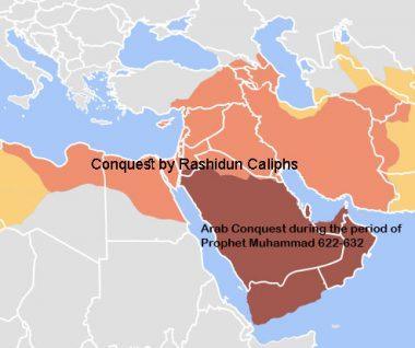 Map of Rashidun Caliphate