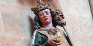 Statue of Otto I in Meissen Cathedral )or Church of St John and St Donatus) in Saxony.