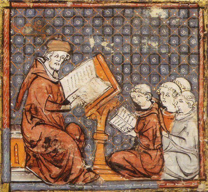 Medieval Schoolmaster & Students (14thC France)