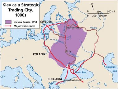 The Varangian trade routes