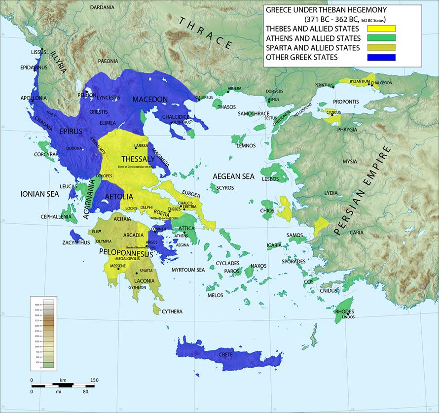 Theban hegemony over Greece