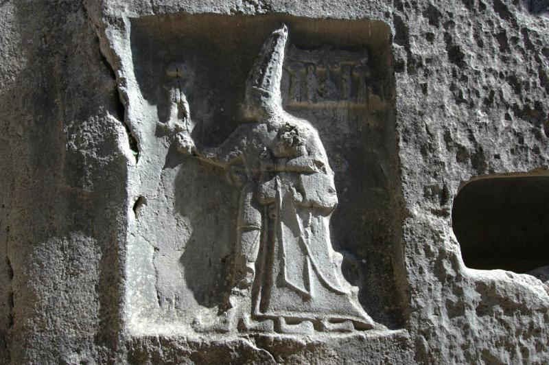 The relief represent Hittite emperor Tudhaliya IV and God Sharruma.