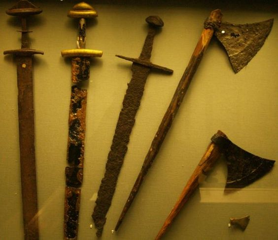 Viking weapons from National museum of Ireland