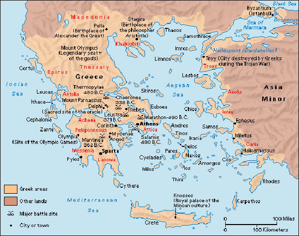 Geographical regions of the ancient greece short history website ancient greece map gumiabroncs Images