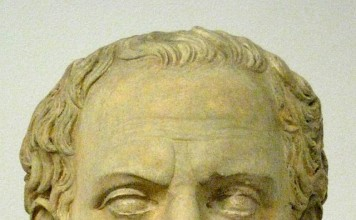 Plaster cast bust of Thucydides from a Roman copy of an early 4th Century BC Greek original. Located at Holkham Hall, but originally from the Pushkin Museum.