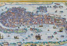 Georg Braun, map of Venice in his Civitates orbis terrarum