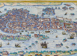 Georg Braun, map of Venice in his Civitates orbis terrarum